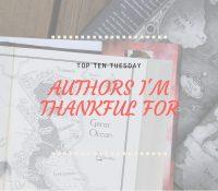 Nine Authors I'm Thankful For