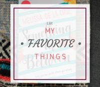 Ten Things I Love